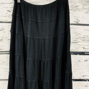 Max Studio Women's Skirt Black Tiered Medium